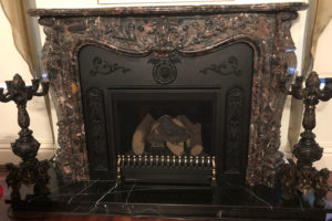 Marble French style fireplace