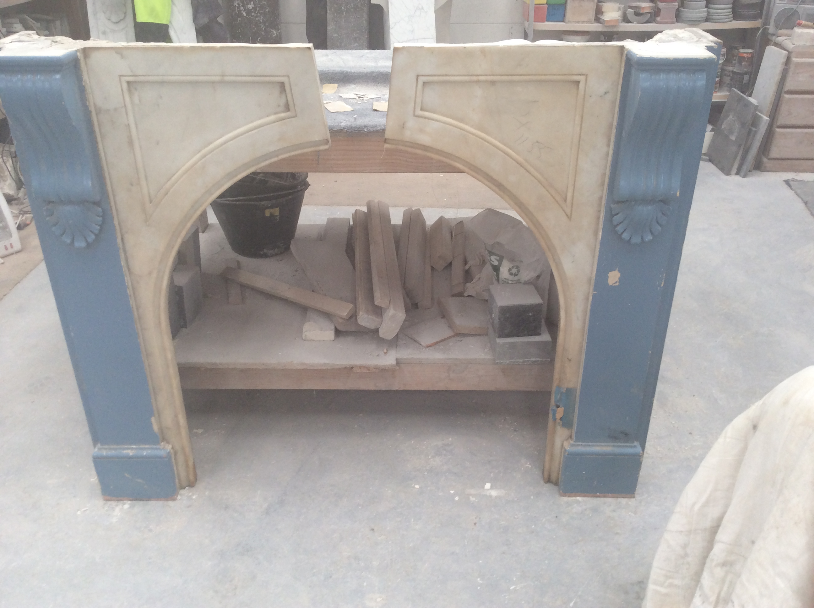Victorian arched fireplace before restoration hallett Victorian fireplace restoration