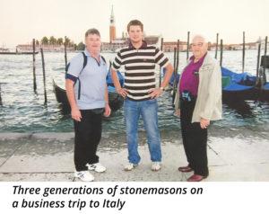 3 generations of stonemasons