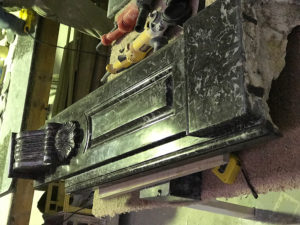Antique fireplace restoration process