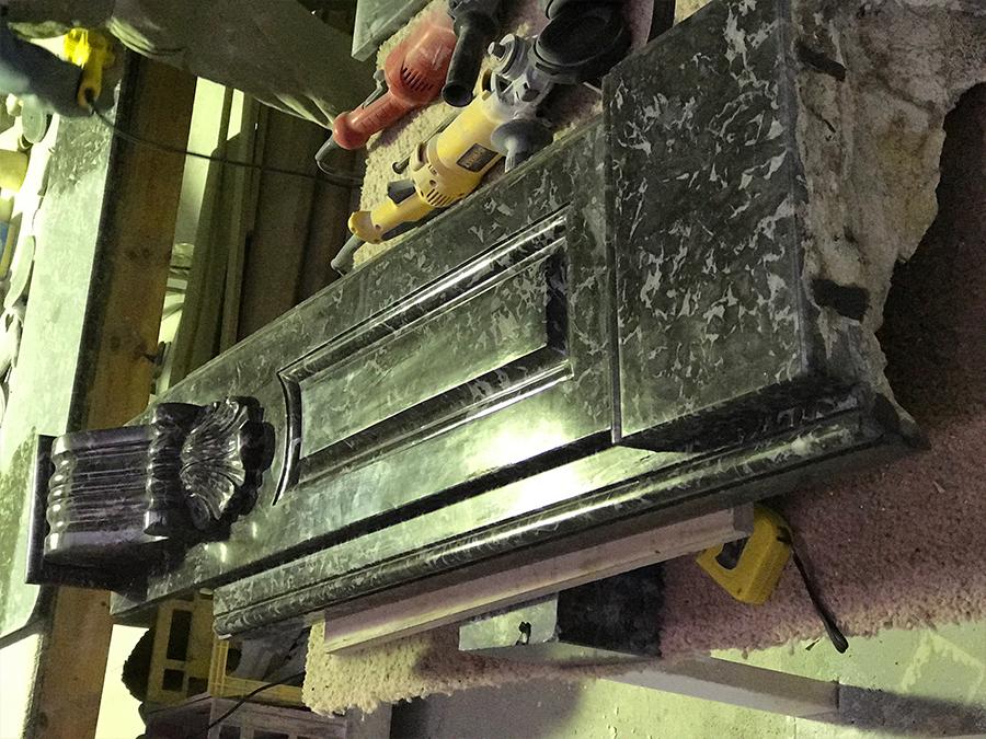 Antique fireplace restoration process