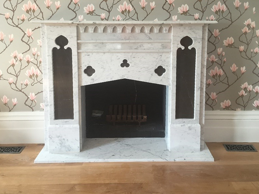 Gothic custom made fireplace