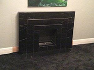 Art Deco Black Marquina marble fireplace