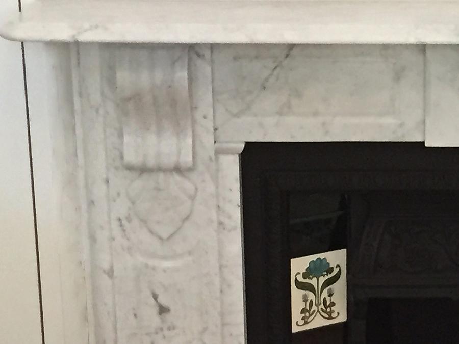 Victorian antique fireplace after restoration