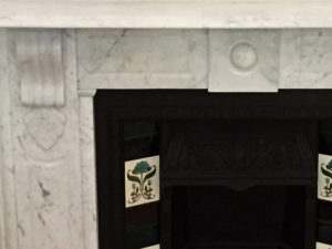 Victorian antique fireplace after restoration