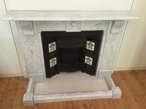 Victorian antique lintel fireplace after restoration