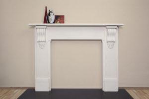 Victorian style lintel fireplace made of limestone