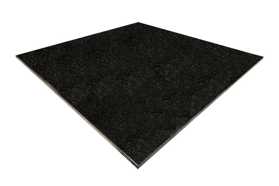 square black granite hearth