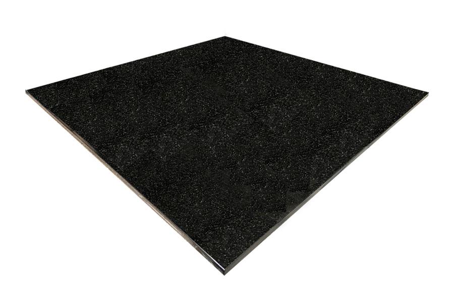 square black granite hearth