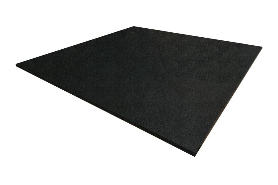 square honed black granite hearth